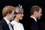Prince Harry, Kate, and William watched the 2011 derby from the royal balcony.