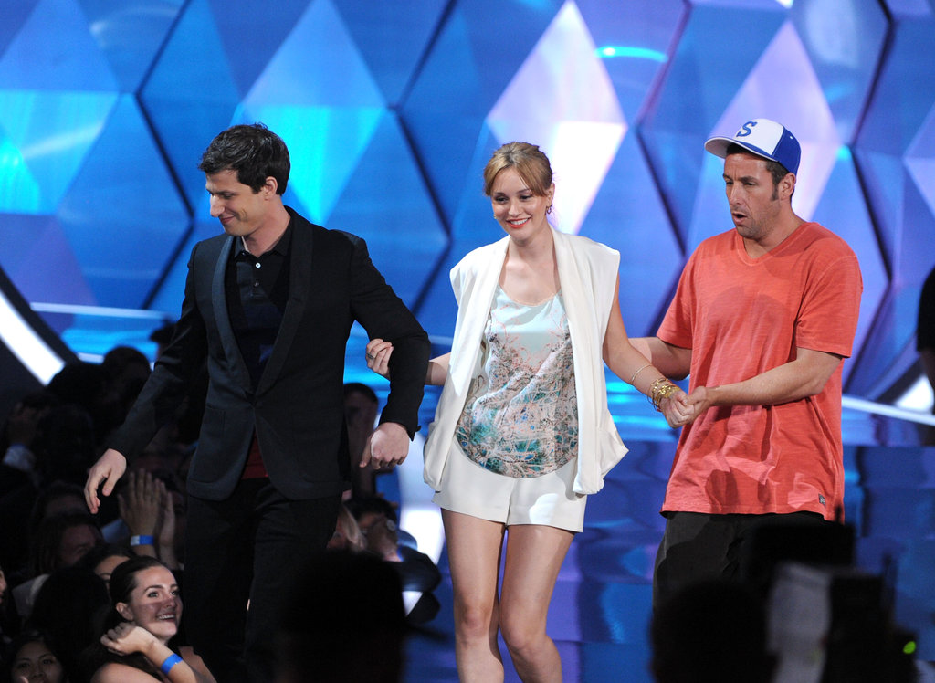 Andy Samberg, Leighton Meester, and Adam Sandler