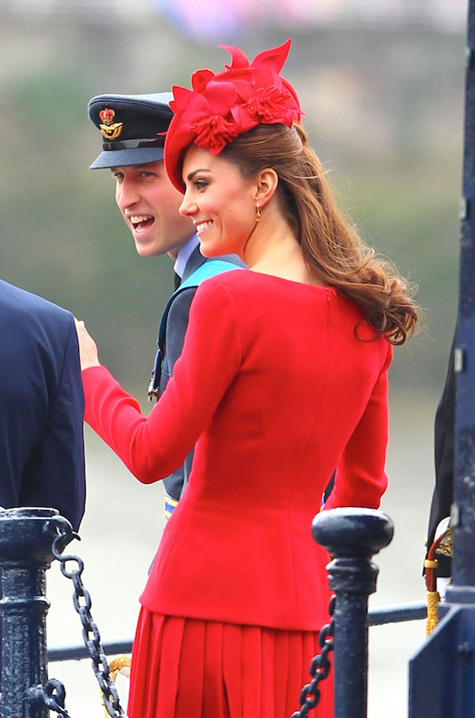 Prince William and Kate smiled during the festivities.