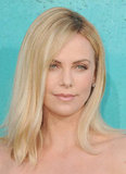 Charlize Theron smiled at the MTV Movie Awards.