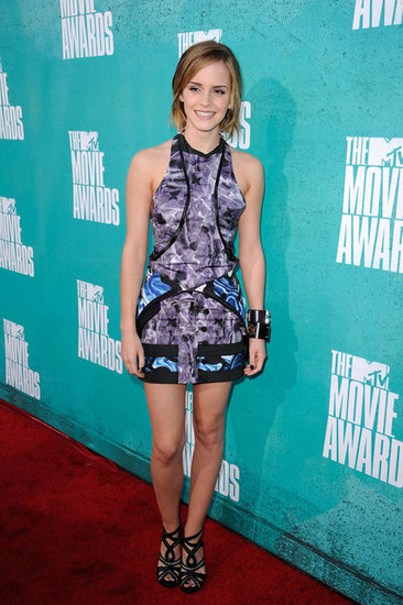 Emma Watson posed at the MTV Movie Awards.