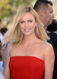 Charlize Theron looked gorgeous at the awards.