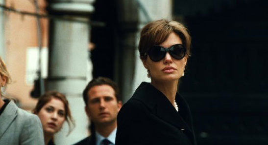 Angelina Jolie kept her eyes shaded for a her 2010 role in The Tourist Photo courtesy of Columbia Pictures