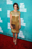Nikki Reed arrived on the red carpet at the MTV Movie Awards.
