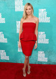 Charlize Theron arrived in red.