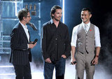 Christian Bale, Joseph Gordon-Levitt and Gary Oldman took to the stage.