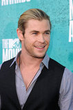 Chris Hemsworth smiled at the MTV Movie Awards.