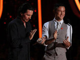 Christian Bale and Joseph Gordon-Levitt took over the stage.