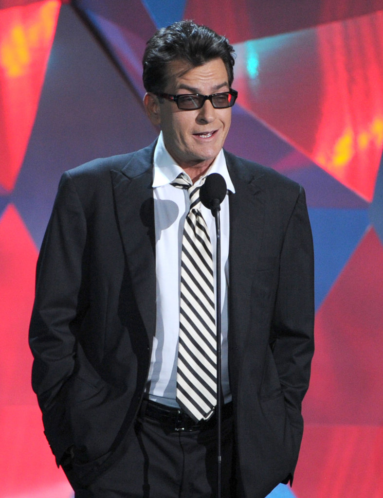 Charlie Sheen was one of the major stars on hand for the show.