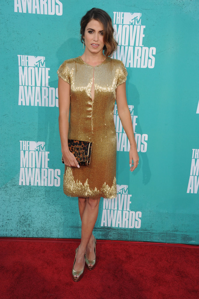 Nikki Reed posed on the red carpet at the MTV Movie Awards.