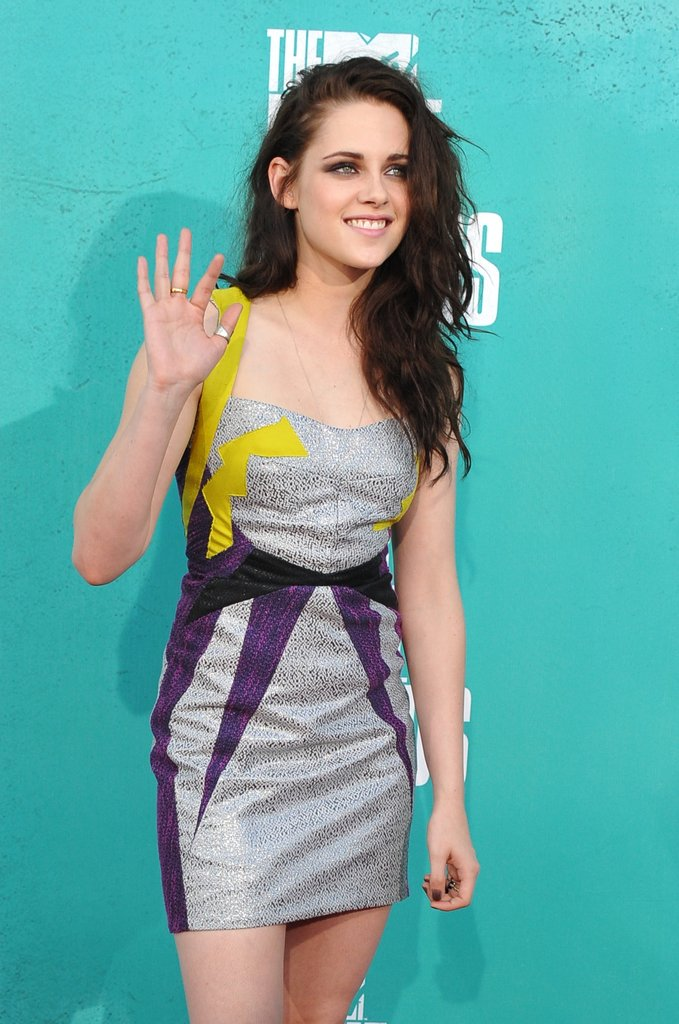 Kristen Stewart waved to fans.