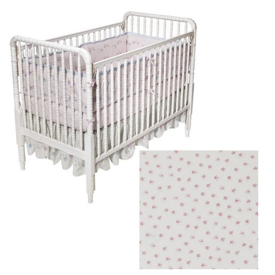 Simply Shabby Chic Baby Scallop Rose Three-Piece Crib Set ($100)
