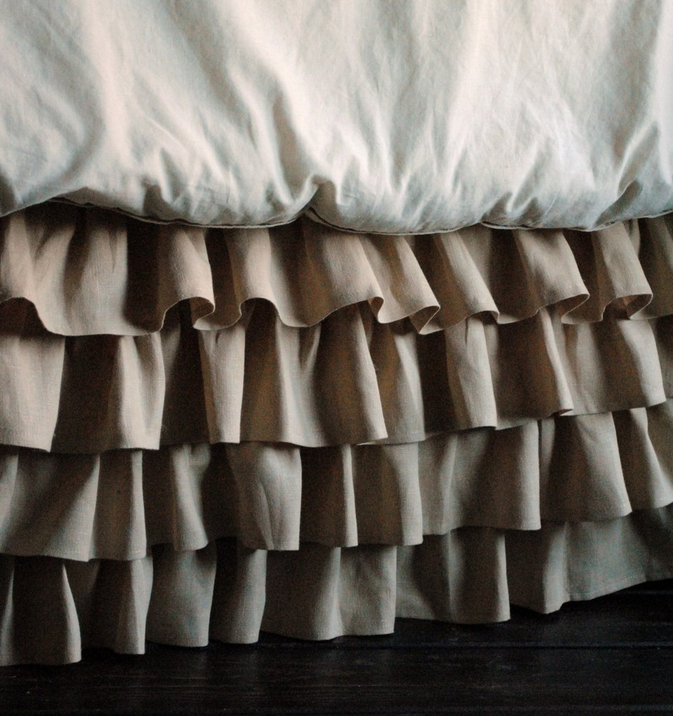 Ruffled Linen Crib Skirt ($160)