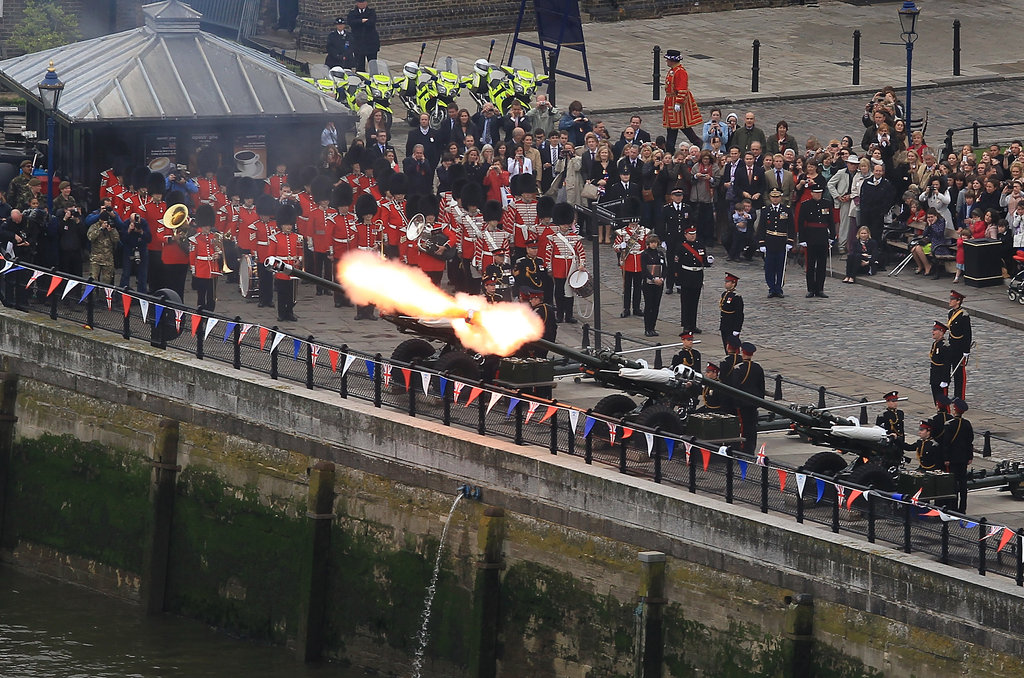 A gun salute was fired to kick off the event.