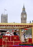 The royals waved together during the Thames Diamond Jubilee Pageant celebrations.