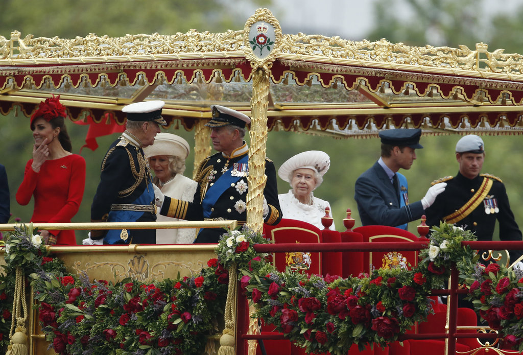 The royals dressed up for the Thames Diamond Jubilee Pageant.