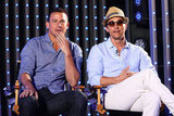 Channing Tatum and Matthew McConaughey didn't shy away from questions about their new film Magic Mike.