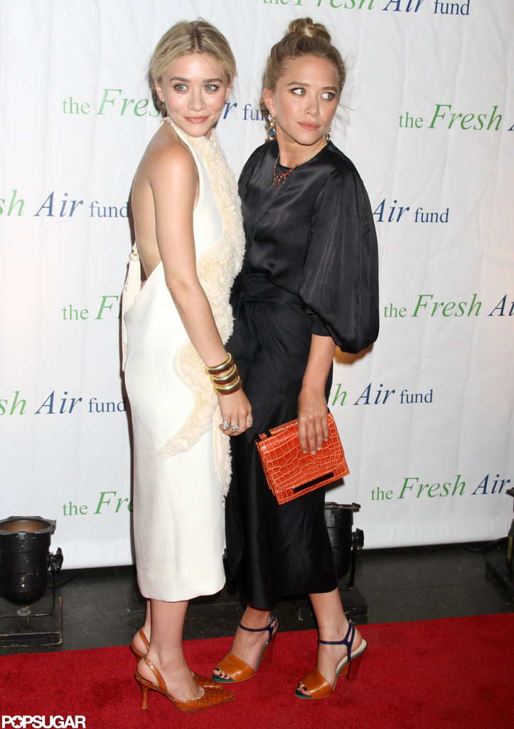 Mary-Kate Olsen and Ashley Olsen wore long dresses for the Fresh Air Fund's Spring Gala in NYC.