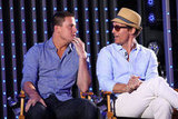 Channing Tatum and Matthew McConaughey shared a moment on stage while talking about their film.
