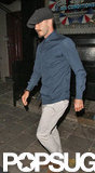 David Beckham arrived at a pub in London.
