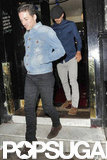 David Beckham and a friend stepped out to a pub in London.