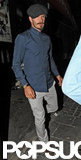 David Beckham was accompanied by his friends for a night out in London.