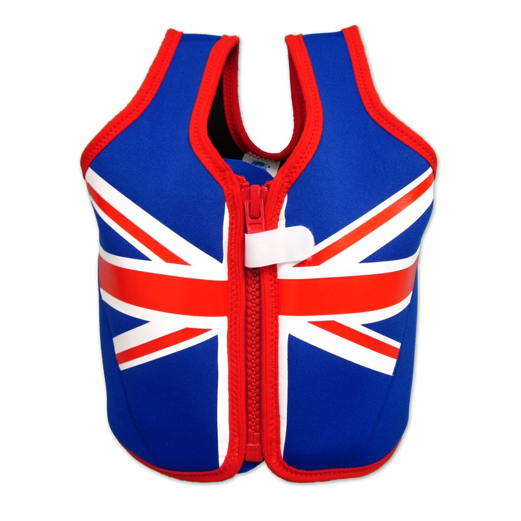Just in time for Summer swim season, this soon-to-be-released Union Jack Float Jacket ($46) will keep tots' heads above water as they're learning their strokes.