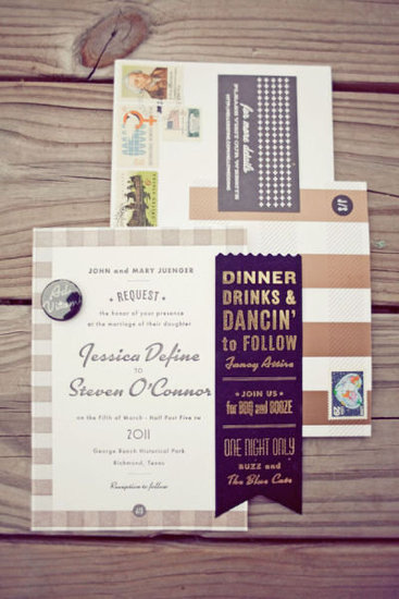 &#039;60s-Inspired Invitations