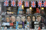 People can don masks of the royal family during the weekend.