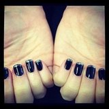Associate ed Alison got experimental with DIY glitter tips — dark and magical!