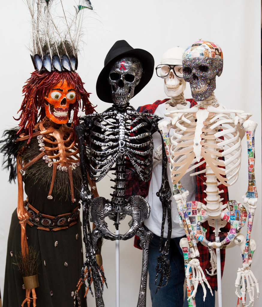 Mr. Bones as interpreted by Padma Lakshmi, Alicia Keys, Terry Richardson, and Zach Galifianakis.