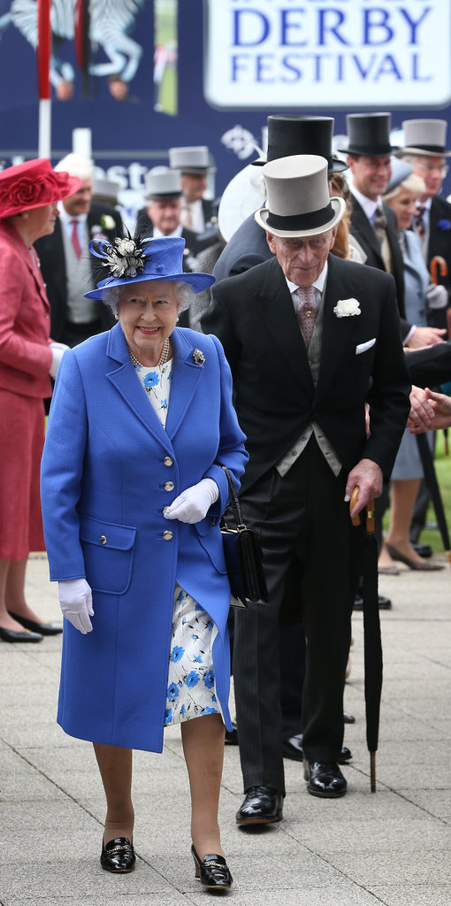 Queen Elizabeth and Prince Phillip walked at the Diamond Jubilee Derby.