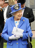 The queen attended the derby in honor of her Diamond Jubilee.