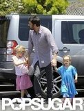 Ben Affleck Hangs Out Close to Home With Violet and Seraphina