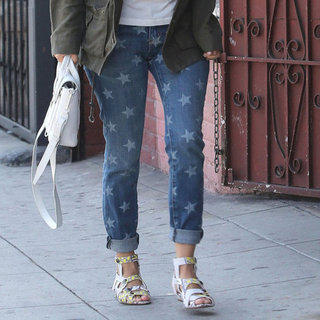 Celebrities in Star Print Jeans