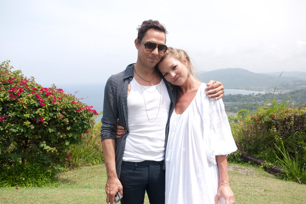 Kate Moss and Jamie Hince cozied up to each other during a trip to Jamaica for a Harper's Bazaar photo shoot in June 2012. Source: Terry Richardson