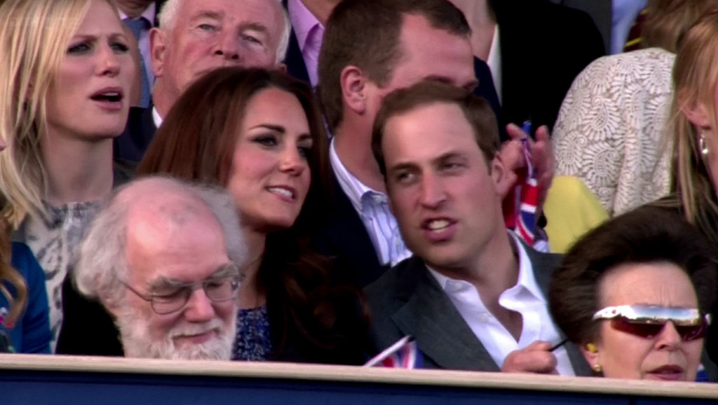 Kate Middleton and Prince William watched the Queen's Jubilee Concert.