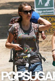 Natalie Portman Takes a Hike With Baby Aleph