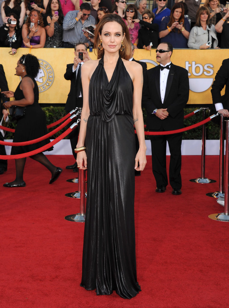 Angelina opted for this slinky Jenny Packham number for the SAG Awards in 2012.