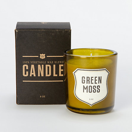 Give Dad a fragrant candle with a masculine-friendly scent and packaging, like this Green Moss Candle ($36).