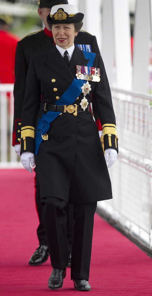 Princess Anne was dressed in uniform.