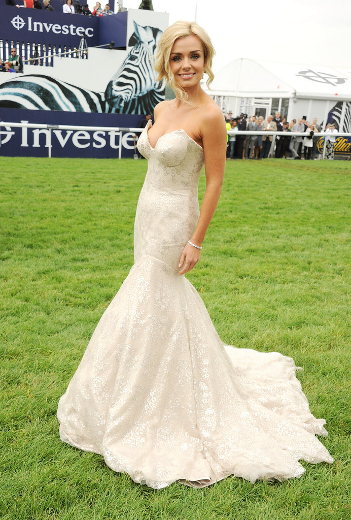 Dancing With The Stars runner-up Katherine Jenkins performed 'God Save The Queen' in a cream gown by Suzanne Neville.