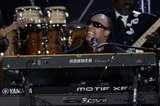 Stevie Wonder performed at the Diamond Jubilee Concert at Buckingham Palace.