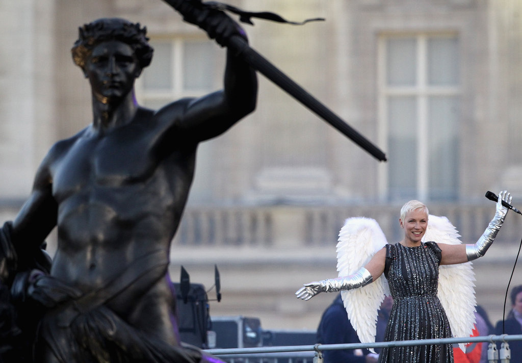 Annie Lennox performed at the Diamond Jubilee Concert at Buckingham Palace.