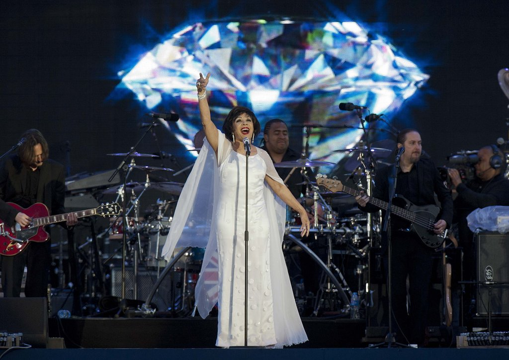 Shirley Bassey performed at the Diamond Jubilee Concert at Buckingham Palace.