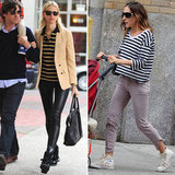 2 Celebrity-Inspired Ways to Mix Your Stripes and Sneakers