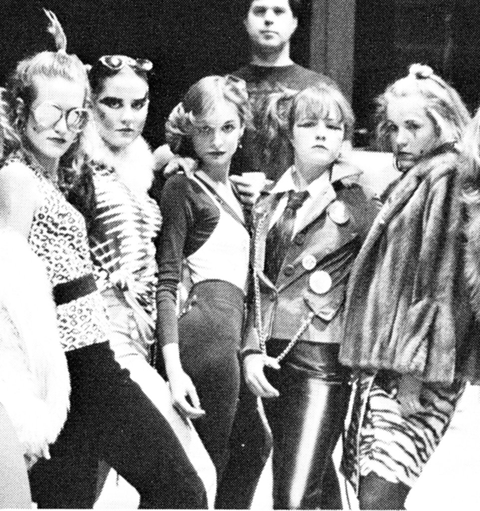 Calista Flockhart, in the center, got into character back in high school.