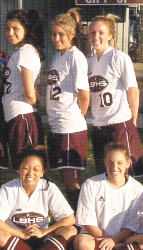 Lauren Conrad, center top, played high school sports.