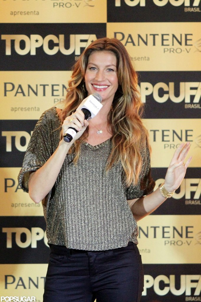 Gisele Bundchen Shows a Little Belly in Brazil