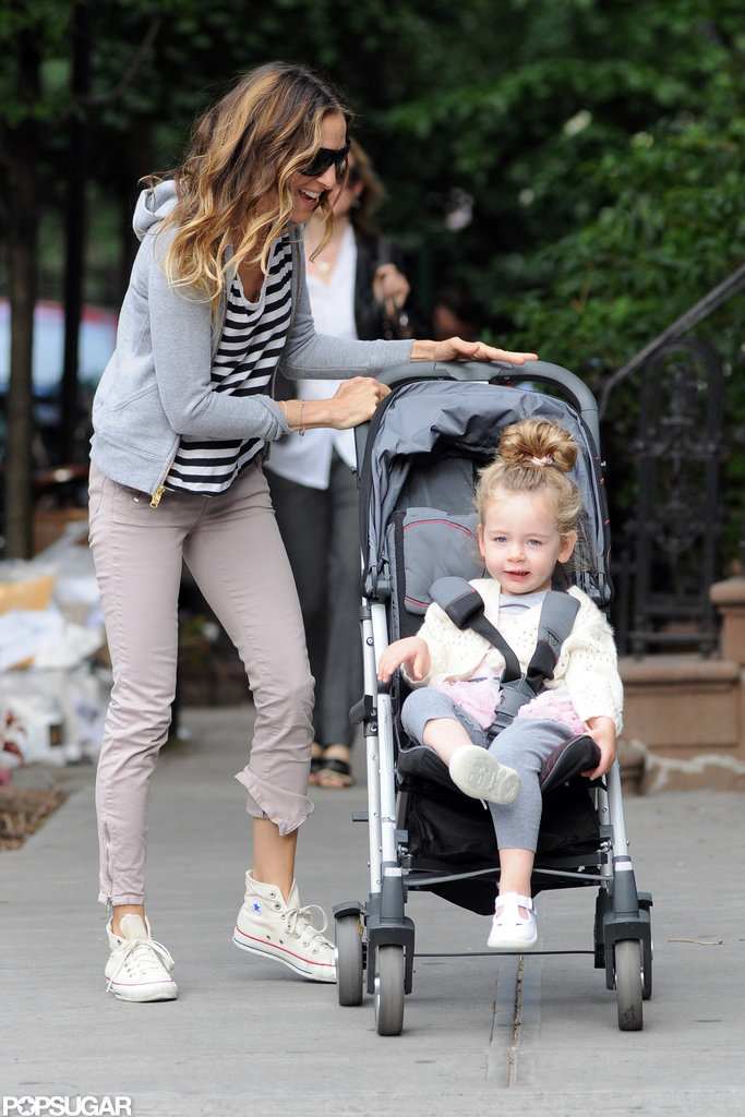 Sarah Jessica Parker and Loretta Broderick spent the day out in NYC.